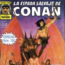 Cómics: LA ESPADA SALVAJE DE CONAN EL BÁRBARO 100. Lote 94511762