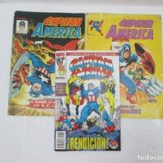 Cómics: LOTE DE 3 CÓMICS DE CAPITÁN AMÉRICA (MIRAR DESCRIPCIÓN). Lote 95273135
