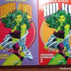 Cómics: HULKA, AMAZONA ESMERALDA VOL 1 DE FORUM COMPLETA 2 TOMOS. Lote 95300827