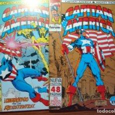 Cómics: CAPITAN AMERICA & THOR EL PODEROSO,V2 FORUM COMPLETA 13 COMICS DOBLES Y TRIPLES. Lote 95301691