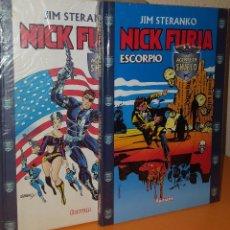 Cómics: NICK FURIA DE STERANKO EN DOS TOMOS FORUM. Lote 95450151