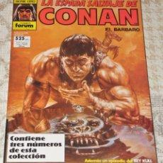 Cómics: LA ESPADA SALVAJE DE CONAN , FORUM , ALBUM ESPECIAL CON TRES NUMEROS ,62,63 Y 64 SERIE ORO. Lote 223257602