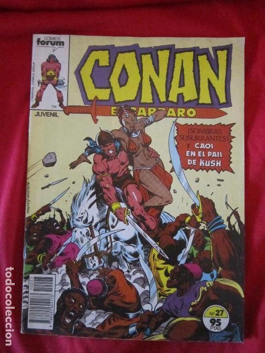 CONAN EL BARBARO Nº 27 COMICS FORUM 1983. JOHN BUSCEMA, ROY THOMAS. TEBENI (Tebeos y Comics - Forum - Conan)