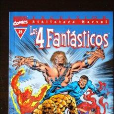 Cómics: BIBLIOTECA MARVEL. LOS 4 FANTÁSTICOS, Nº 21. PLANETA DE AGOSTINI.. Lote 95601799