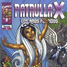 Cómics: PATRULLA X LOS AÑOS PERDIDOS Nº 6 IMPECABLE. Lote 83488368