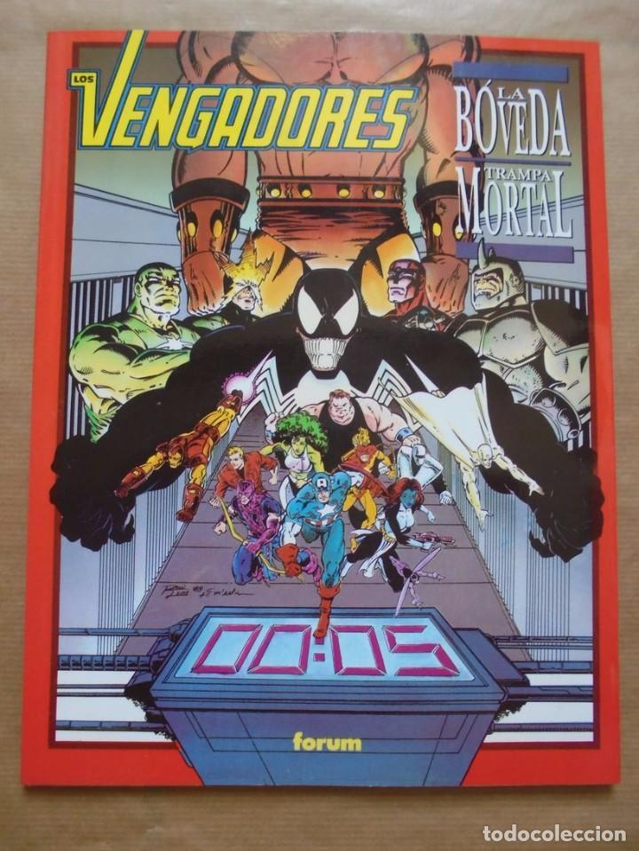 NOVELAS GRÁFICAS MARVEL - LOS VENGADORES LA BÓVEDA TRAMPA MORTAL - PERFECTO ESTADO - JMV (Tebeos y Comics - Forum - Prestiges y Tomos)