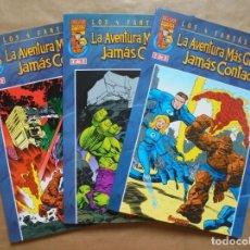 Cómics: LOS 4 FANTÁSTICOS - LA AVENTURA MÁS GRANDE JAMÁS CONTADA 1 A 3 - FORUM - PERFECTO ESTADO - JMV. Lote 96024003
