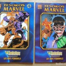Cómics: TESOROS MARVEL - LOS 4 FANTÁSTICOS - LOS AÑOS PERDIDOS 1 Y 2 - FORUM - PERFECTO ESTADO - JMV. Lote 96024531