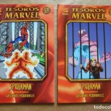 Cómics: TESOROS MARVEL - SPIDERMAN - LOS AÑOS PERDIDOS 1 Y 2 - FORUM - PERFECTO ESTADO - JMV. Lote 96024703