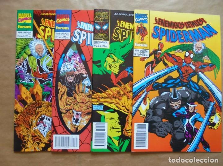 LOS ENEMIGOS LETALES DE SPIDERMAN 1 A 4 COMPLETA - FORUM - PERFECTO ESTADO - JMV (Tebeos y Comics - Forum - Spiderman)