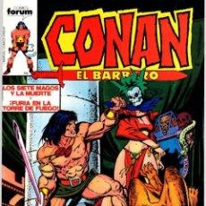 Comics : CONAN EL BARBARO. Nº 86. LOS SIETE MAGOS Y LA MUERTE Y FURIA EN LA TORRE DE FUEGO. FORUM. AÑO 1983. Lote 96575555
