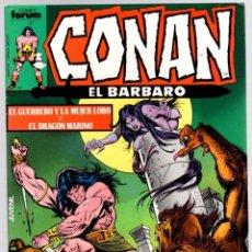 Comics : CONAN EL BARBARO. Nº 89. EL GUERRERO Y LA MUJER LOBO Y EL DRAGON MARINO. FORUM. AÑO 1983. Lote 96578367