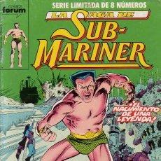 Cómics: LA SAGA DE SUB-MARINER - NAMOR - OBRA COMPLETA 8 NÚMEROS - FORUM. Lote 96766871