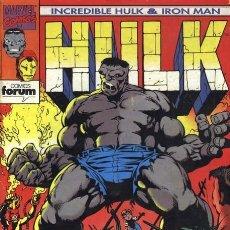 Cómics: HULK & IRON MAN COLECCION COMPLETA (9 NÚMEROS DOBLES) FORUM. Lote 96870167