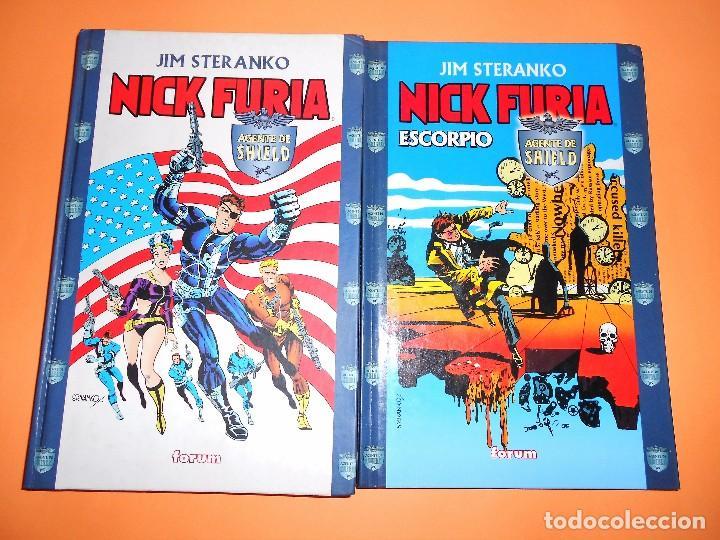 NICK FURIA DE JIM STERANKO. DOS VOLUMENES. CARTONÉ. BUEN ESTADO. (Tebeos y Comics - Forum - Prestiges y Tomos)