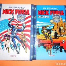 Cómics: NICK FURIA DE JIM STERANKO. DOS VOLUMENES. CARTONÉ. BUEN ESTADO.. Lote 97040987
