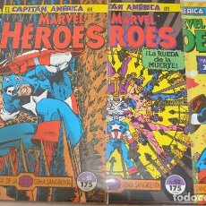Cómics: CAPITAN AMERICA EN BUSCA DE LA GEMA SANGRIENTA COMPLETA MARVEL HEROES NºS 51 AL 53 FORUM. Lote 98058167