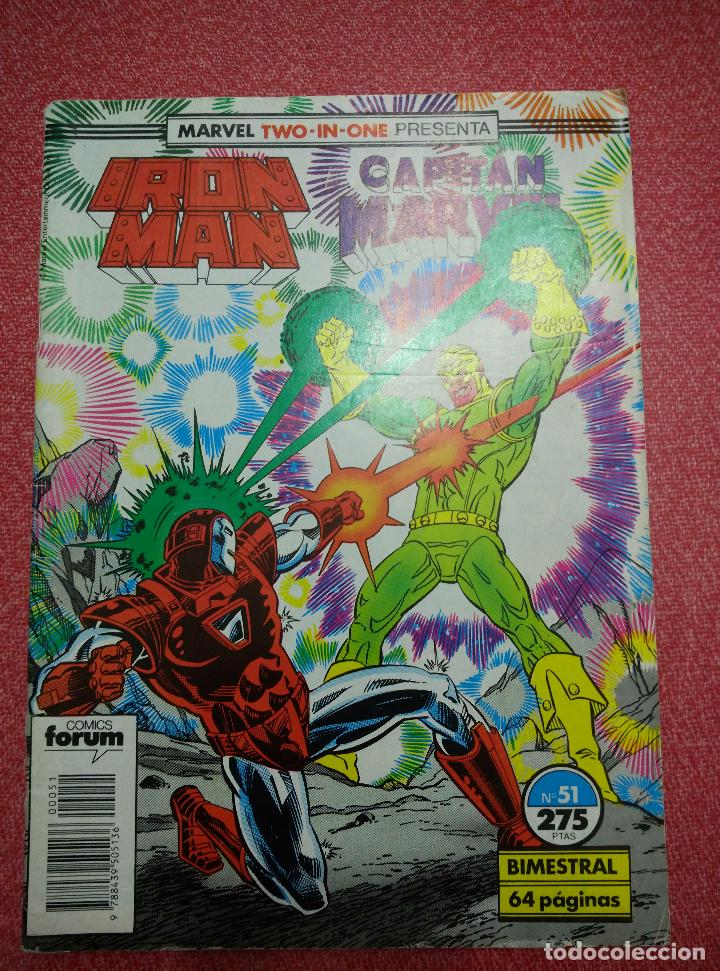 IRON MAN/CAPITÁN MARVEL. Nº 51. FORUM (Tebeos y Comics - Forum - Iron Man)