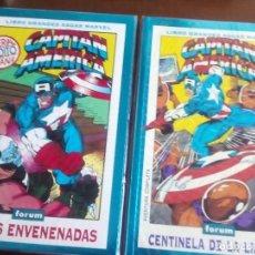 Cómics: CAPITAN AMERICA 2 LIBROS GRANDES SAGAS AÑO 1994-1995. Lote 98304107