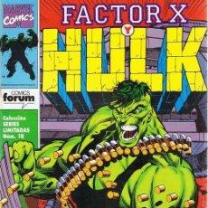 Cómics: FACTOR X Y HULK Nº 1. Lote 98534039