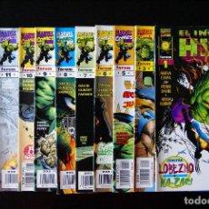 Cómics: EL INCREIBLE HULK, VOLUMEN 3/ VOL III. LOTE 11 NºS 1,3,5,6,7,8,9,10,11,12 Y 15. PETER DAVID. FORUM.. Lote 98538439