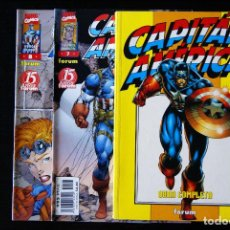 Cómics: CAPITÁN AMÉRICA. HEROES REBORN. NºS 1 AL 8 DE 12 (1,2,3,4,5,6,7,8). FORUM.. Lote 98542331