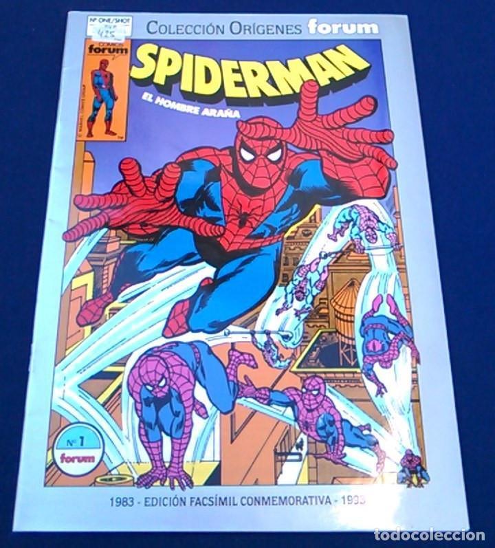 COMIC SPIDERMAN EL HOMBRE ARAÑA, Nº 1. COLECCIÓN ORÍGENES FORUM. EDICIÓN FACSÍMIL CONMEMORATIVA. (Tebeos y Comics - Forum - Spiderman)