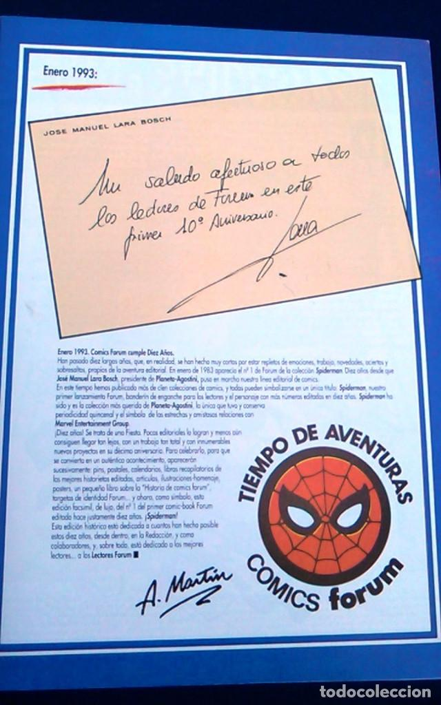 Cómics: Comic Spiderman el hombre araña, nº 1. Colección orígenes Forum. Edición facsímil conmemorativa. - Foto 2 - 98716591