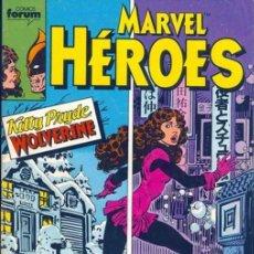 Cómics: MARVEL HÉROES Nº 01 AL 20 CÓMICS FORUM 1987 - KITTY PRIDE & LOBEZNO - PATRULLA-X VS - LONGSHOT. Lote 98817051