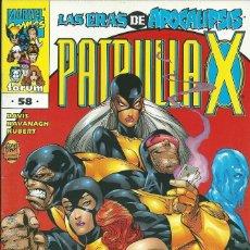 Cómics: LA PATRULLA X VOLUMEN 2 NUMERO 58. Lote 99885883