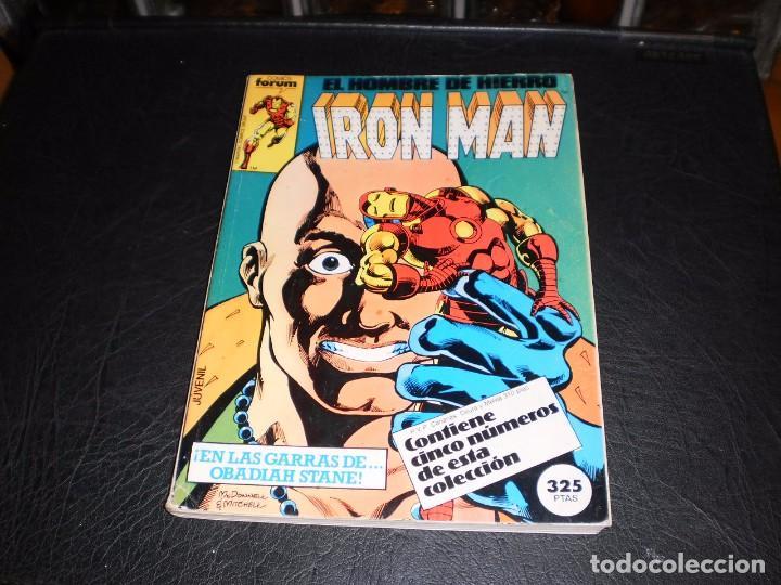 EL HOMBRE DE HIERRO-IRON MAN- Nº. 16 AL 20 .- CINCO COMICS FORUM.- RETAPADOS.- 1986 (Tebeos y Comics - Forum - Retapados)