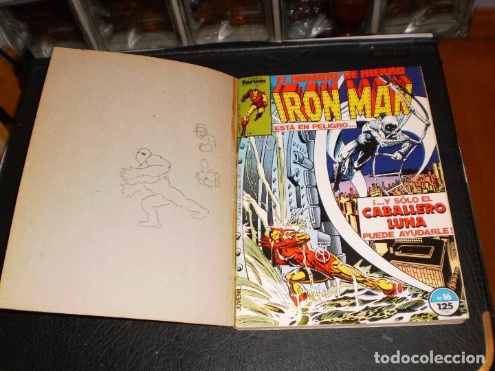 Cómics: EL HOMBRE DE HIERRO-IRON MAN- Nº. 16 AL 20 .- CINCO COMICS FORUM.- RETAPADOS.- 1986 - Foto 2 - 99944407