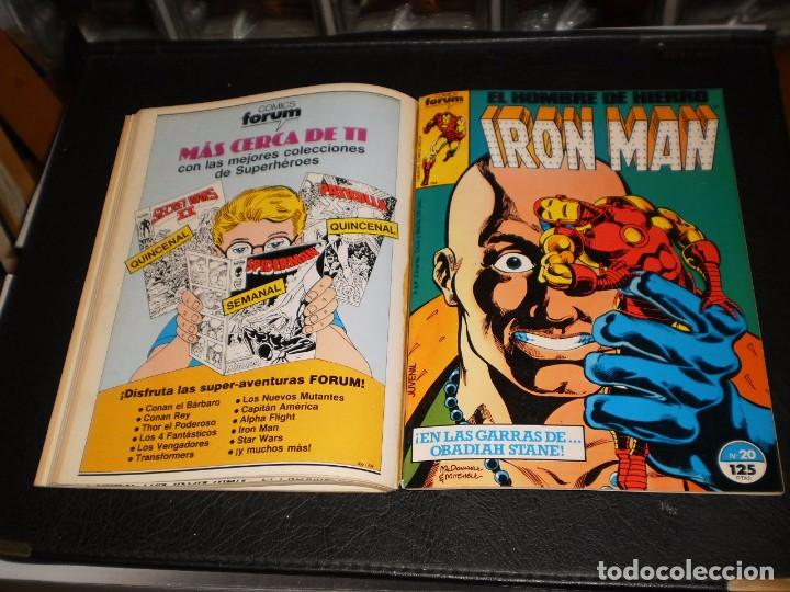 Cómics: EL HOMBRE DE HIERRO-IRON MAN- Nº. 16 AL 20 .- CINCO COMICS FORUM.- RETAPADOS.- 1986 - Foto 6 - 99944407