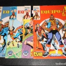 Cómics: LOTE 4 COMICS –EQUIPO-A TEAM – Nº 1,2,3,4 – FORUM 1987. Lote 99945647