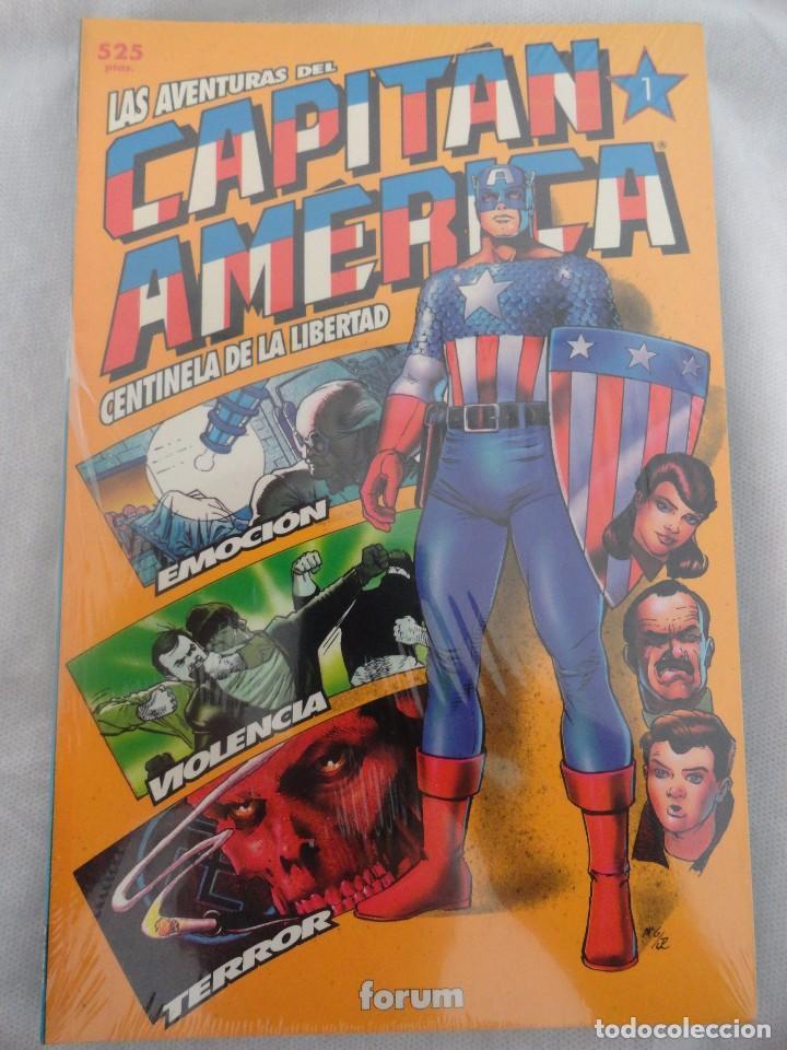 LAS AVENTURAS DEL CAPITÁN AMÉRICA, CENTINELA DE LA LIBERTAD. FORUM. COLECCIÓN COMPLETA 4 NÚMEROS. (Tebeos y Comics - Forum - Capitán América)