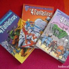 Cómics: BIBLIOTECA MARVEL LOS 4 FANTASTICOS NºS 1, 2 Y 3 ( STAN LEE JACK KIRBY ) ¡MUY BUEN ESTADO! FORUM. Lote 100598967