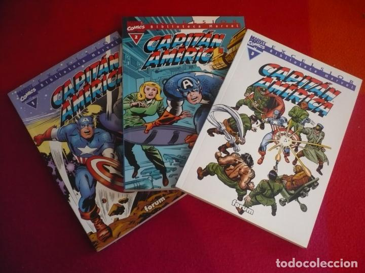 BIBLIOTECA MARVEL CAPITAN AMERICA 1, 2 Y 3 ( STAN LEE JACK KIRBY ) ¡MUY BUEN ESTADO! FORUM (Tebeos y Comics - Forum - Capitán América)