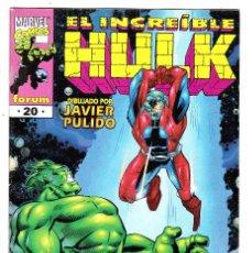 Cómics: EL INCREÍBLE HULK - NÚMERO 20. Lote 100666791
