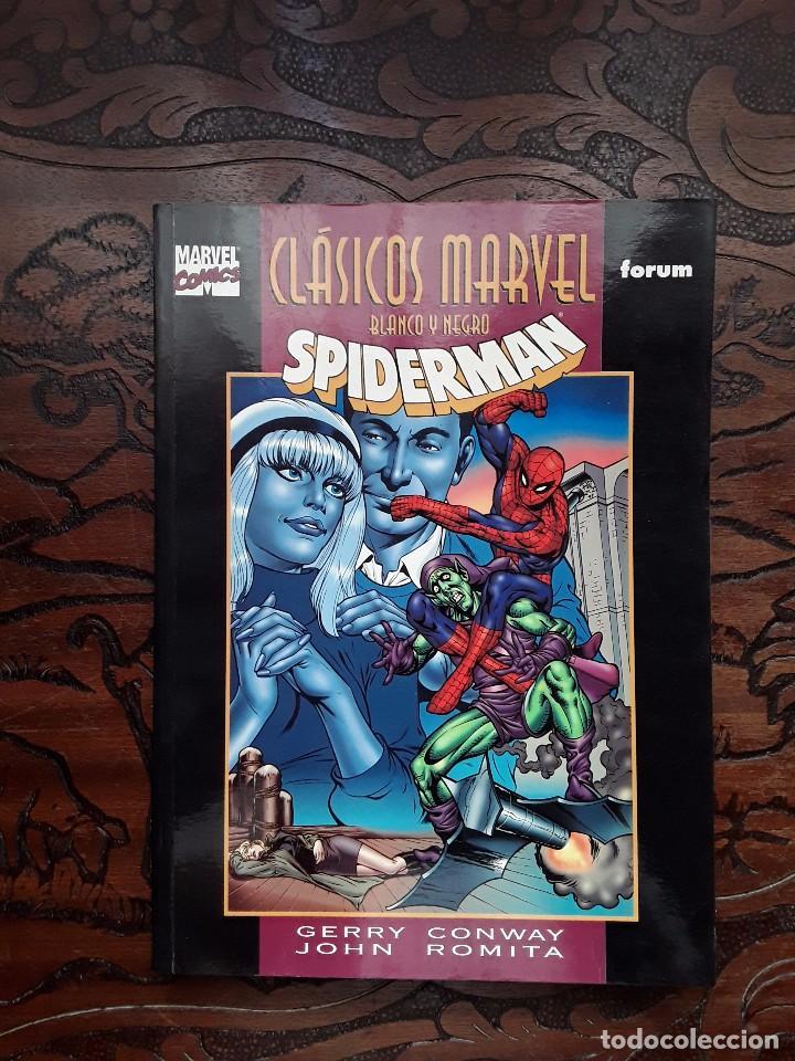 SPIDERMAN: CLÁSICOS MARVEL BLANCO Y NEGRO Nº2: DESIGNIOS MORTALES (GERRY CONWAY- JOHN ROMITA, FORUM) (Tebeos y Comics - Forum - Spiderman)