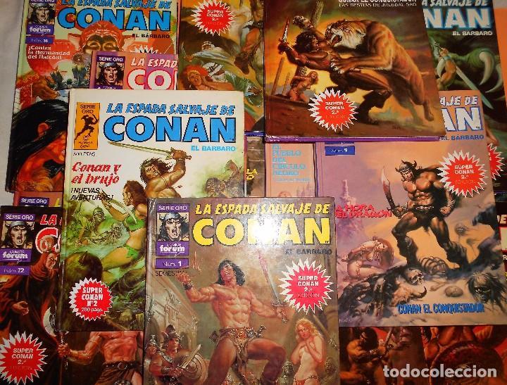 SUPER CONAN .16 VOLUMENES TAPA DURA. BUEN ESTADO. LAS MEJORES HISTORIAS DE CONAN. (Tebeos y Comics - Forum - Conan)
