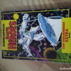 Cómics: COMIC RETAPADO ALBUM MARVEL HEROES ESPECIAL CON 3 NUMEROS ESPECIALES. FORUM PLANETA. Lote 101692091