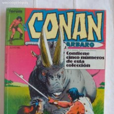 Cómics: CONAN EL BÁRBARO VOLUMEN VOL.1 FORUM RETAPADO Nº 146 AL 150. Lote 102373879