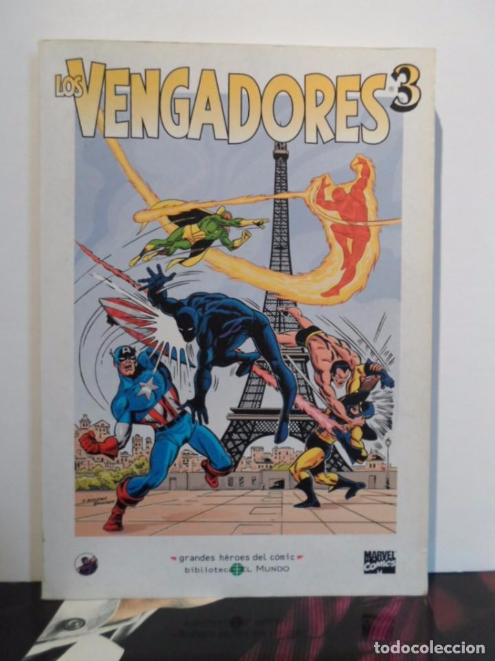 Cómics: +++ LOS VENGADORES - GRANDES HÉROES DEL CÓMIC - TOMOS Nº 1, 2, 3 - EDIT. EL MUNDO - EDICIÓN AÑO 2003 - Foto 3 - 75490851