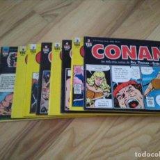 Cómics: LOTE COMICS TIRAS DE PRENSA DE CONAN EL BARBARO FORUM PLANETA COLECCION CASI COMPLETA. Lote 103768015