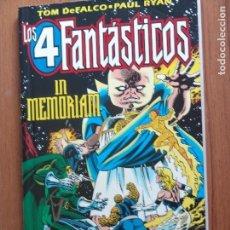 Cómics: LOS 4 FANTASTICOS IN MEMORIAM TOMO ESPECIAL DE FORUM. Lote 103860891