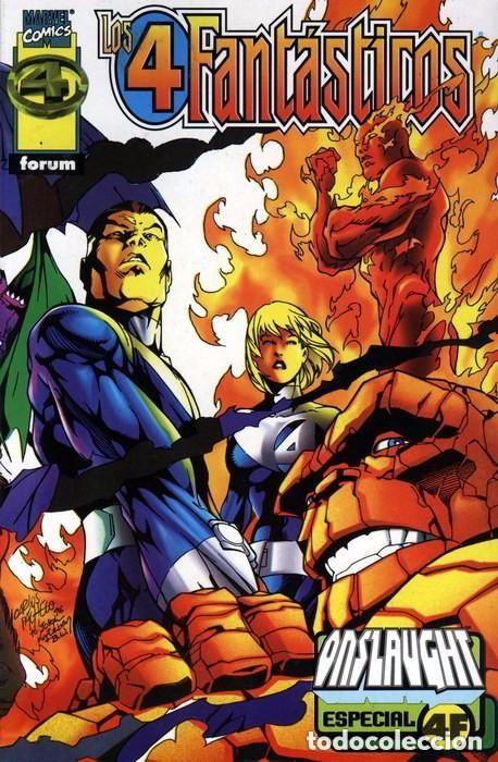 LOS 4 FANTÁSTICOS: ESPECIAL ONSLAUGHT - TOMO FORUM. (Tebeos y Comics - Forum - 4 Fantásticos)