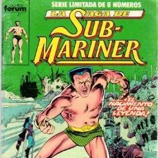 Cómics: LA SAGA DE SUB-MARINER. SERIE LIMITADA DE 8 NUMEROS. COMPLETA.. Lote 104265822