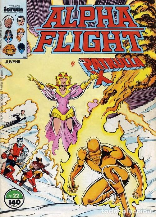 ALPHA FLIGHT VOL.1 Nº 22 PATRULLA X - FORUM (Tebeos y Comics - Forum - Alpha Flight)