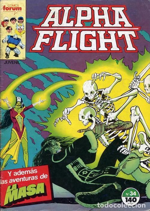 ALPHA FLIGHT VOL.1 Nº 34 - FORUM (Tebeos y Comics - Forum - Alpha Flight)