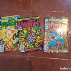 Cómics: MARVEL HEROES CAPITAN AMERICA 51,52 Y 53 SAGA DE LA GEMA SANGRIENTA. Lote 104727375